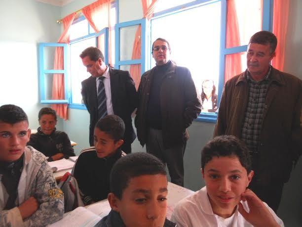 حول زيارة وفد مدرسي بلجيكي لإعدادية بني سيدال