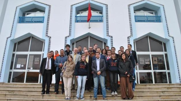 تطوير آفاق البحث العلمي محور لقاء الدكتور محمد بودرا  بوفد طلابي من جامعة ليموج الفرنسية