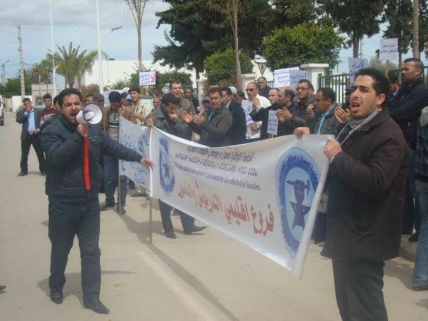 الاحتقان بجماعة أزلاف بالدريوش يتحول إلى احتقان جهوي: إعتصام أمام العمالة واضراب جهوي