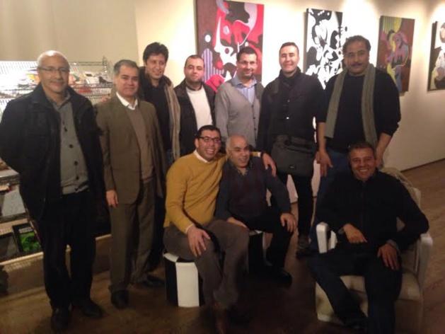 الفنان التشكيلي الزوفري مصطفى يتألق ببروكسيل