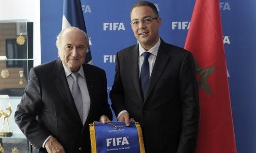 بلاتير يرسل الحسيمة إلى الدرجة الثانية من الدوري المغربي –صورة