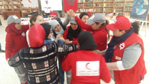 بالصور: الهلال الأحمر بالناظور ينظم الملتقى الثاني للشباب كوسطاء لتغيير السلوك