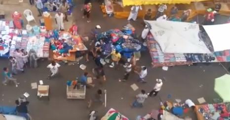 الفراشة  : فيديو.. فوضى عارمة بين الباعة قبل الفطور
