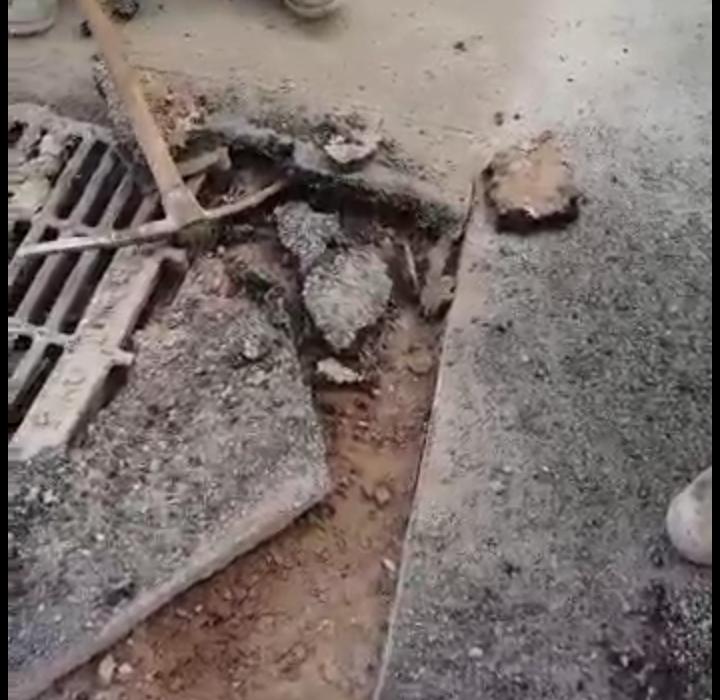 بعد أيام قليلة من التهيئة الحضرية لترقاع السفلى...شاهد فضيحتها بالفيديوا