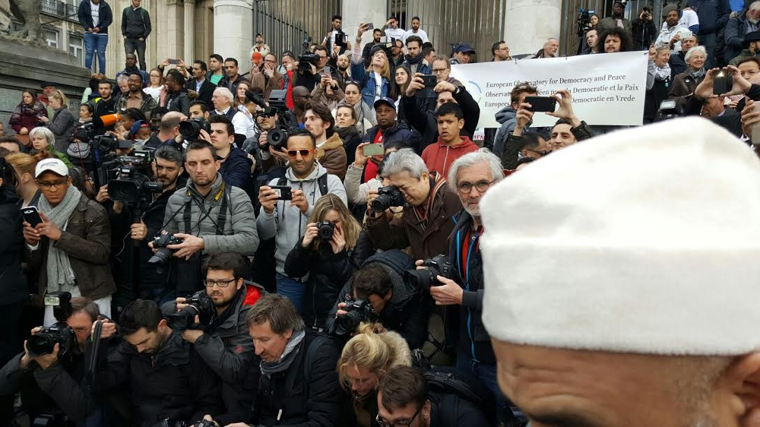 مسيرة حاشدة بالعاصمة البلجيكية بروكسيل للتنديد بالإرهاب و التطرّف.