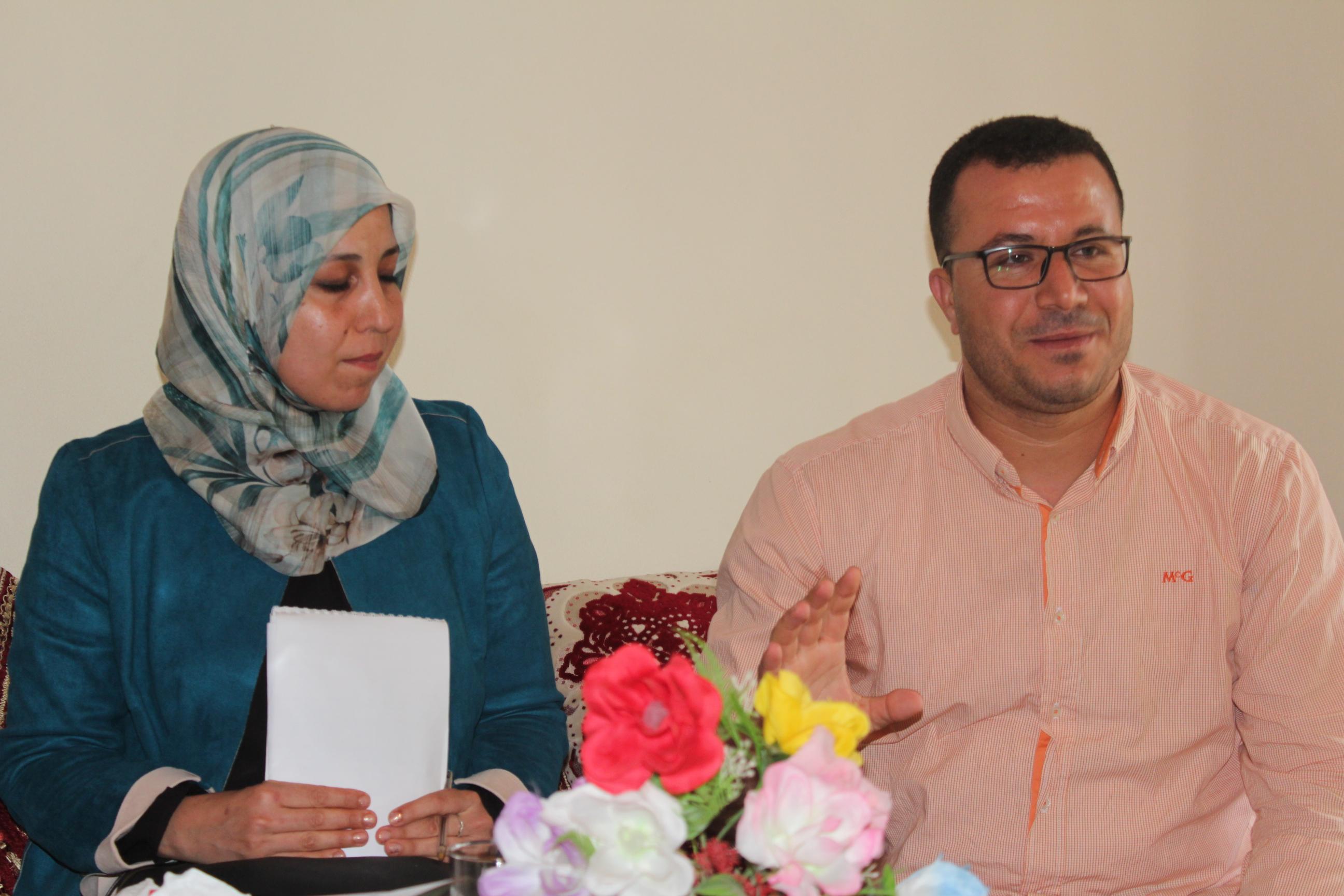 الامانة المحلية لحزب البام بأيت اوليشك تستقبل البرلمانية الشابة آمال عربوش وتتواصل مع مناضليه