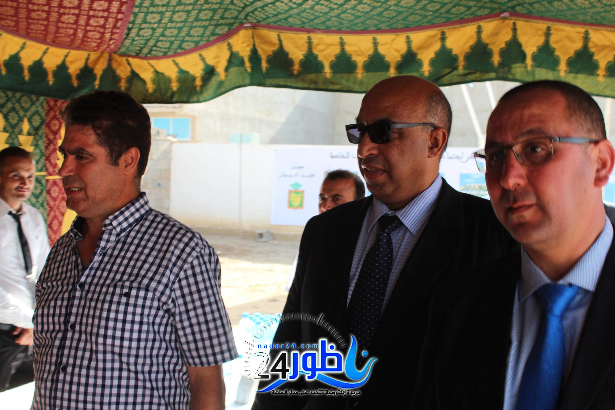 عامل الدريوش يشرف بمعية رئيس جماعة ميضار على إعطاء انطلاقة أشغال بناء مركز لذوي الاحتياجات الخاصة