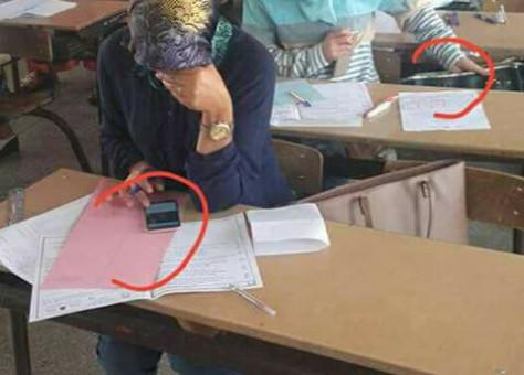 """صورة """"غش"""" أساتذة في امتحان الكفاءة تثير الجدل"""