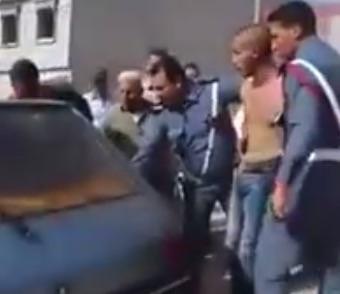 الدرك يطلق النار على مقرقب هاجمهم بخنجر داخل مقرهم بأزغنغان