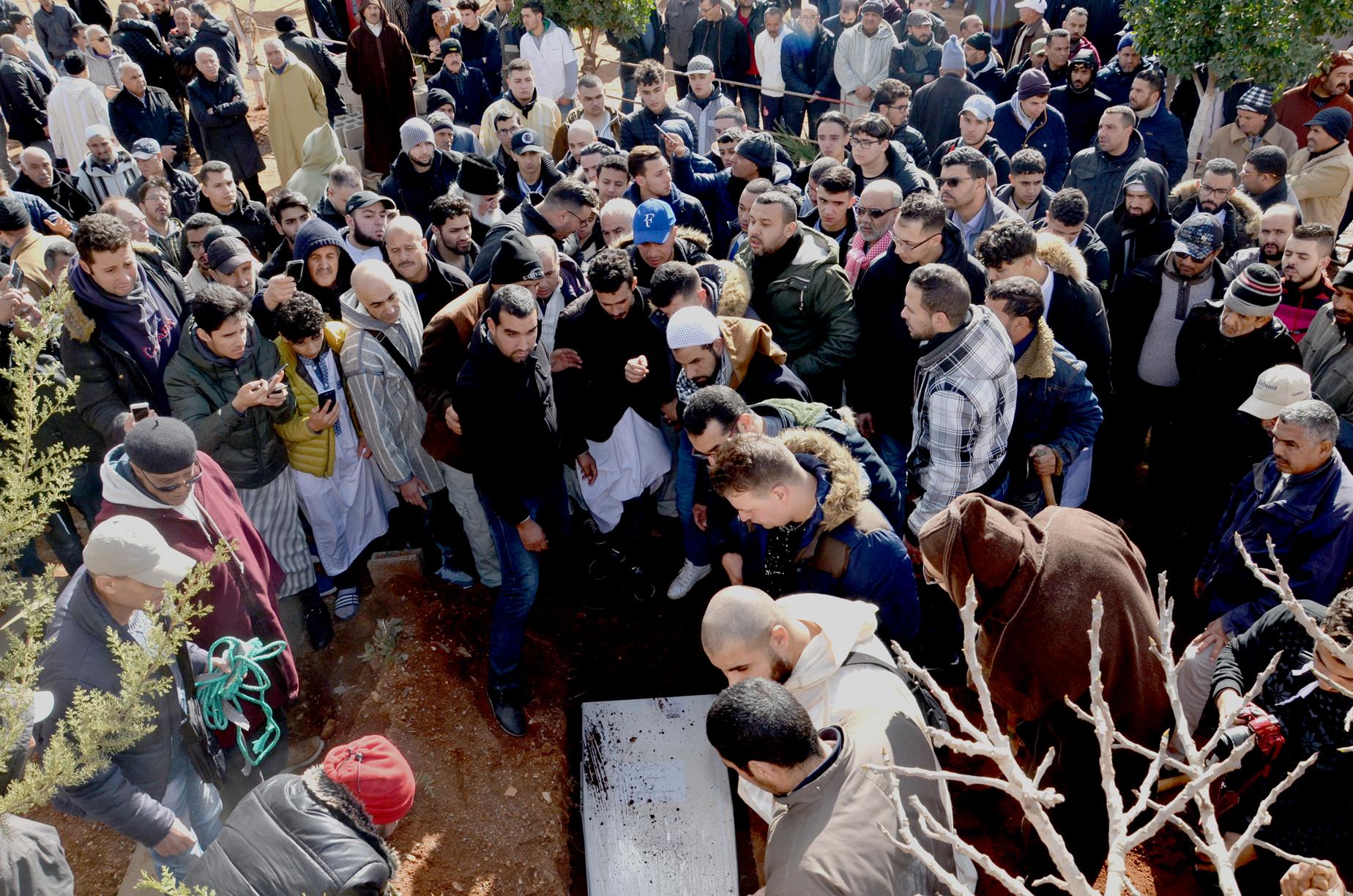 تشيع جثمان المرحوم محمد بوشيخي الذي أغتيل بأمستردام.