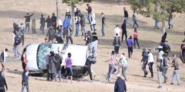 فيديو الاحداث المؤلمة و المواجهة الدامية بين القوات العمومية و المتظاهرون بجرادة