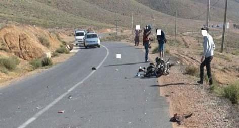 دراجة نارية تمزق جسد طفلة على طريق بن الطيب ـ لعسارة في حادثة سير خطيرة