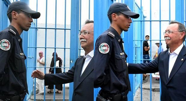 شاهد بالفيديو  الشرطي المغربي الذي رفض السلام على حاكم سبتة