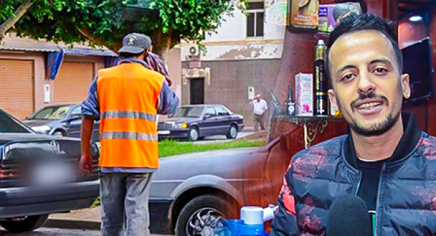 """حارس سيارات يعتدي على """"حلاق ناظوري""""بضربة خطيرة بسكين"""