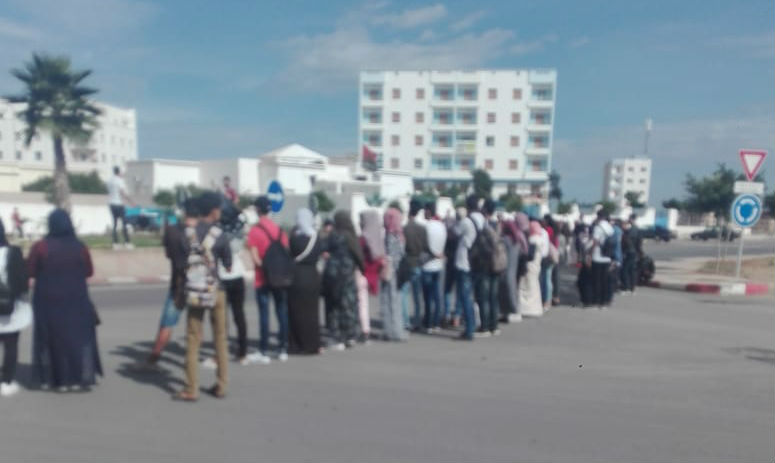احتجاجا على النقل والاكتظاظ: طلبة سلوان ينظمون مسير احتجاجية