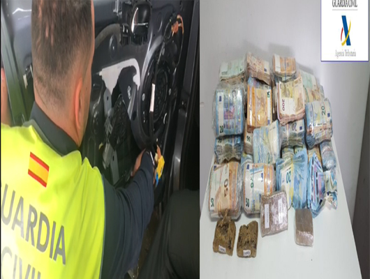 صور/ القبض على جزائري في ميناء سبتة و في حوزته 400 مليون و مخدرات خبأها بإحكام في سيارته !