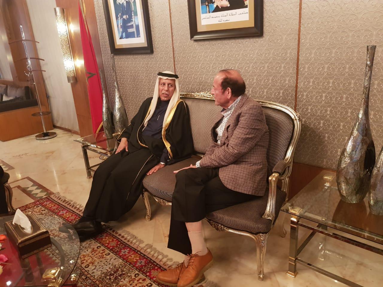 عبد القادر سلامة يستقبل رئيس مجلس الشورى القطري وهذا ما دار بينهما