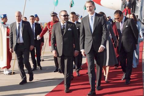 زيارة عاهلي إسبانيا إلى المغرب سلطت الضوء على الوضعية الممتازة للعلاقات بين المملكتين