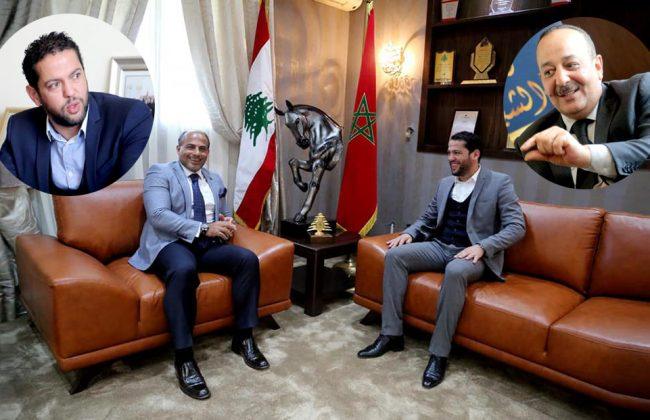 المحجوب بنسعلي في ضيافة الأعرج وسفير لبنان لتدارس سبل إنجاح جائزة الصحفيين الشباب