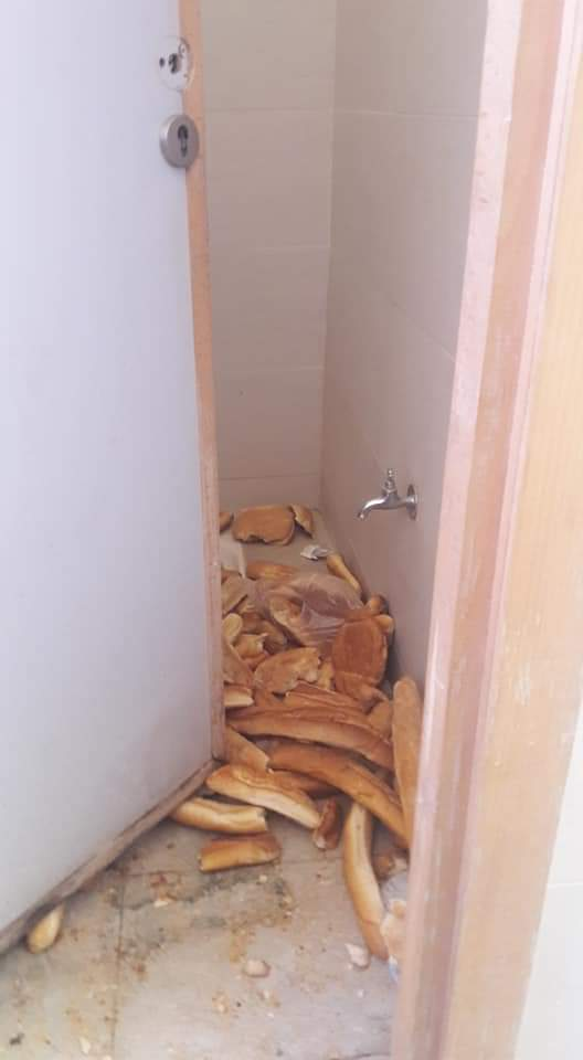 صور لكمية كبيرة من الخبز مرمية في مرحاض بالحي الجامعي بالناظور تثير إستياء واسع وسط الطلبة والساكنة