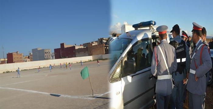 إعتقال شاب عشريني خلال مباراة كرة القدم بجماعة الكبداني وسط هلع وذهول لدى أصدقائه