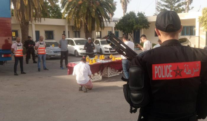 أمن الناظور يفكك شبكة للإتجار بالبشر ويحجز معدات ومخدرات : فيديو و صور