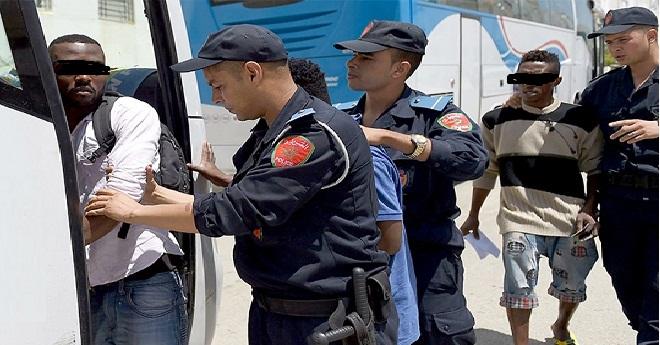 عاجل : الناظور / ايقاف أزيد من 78 مهاجر سري من دول افريقيا جنوب الصحراء و اعتقال شخصين