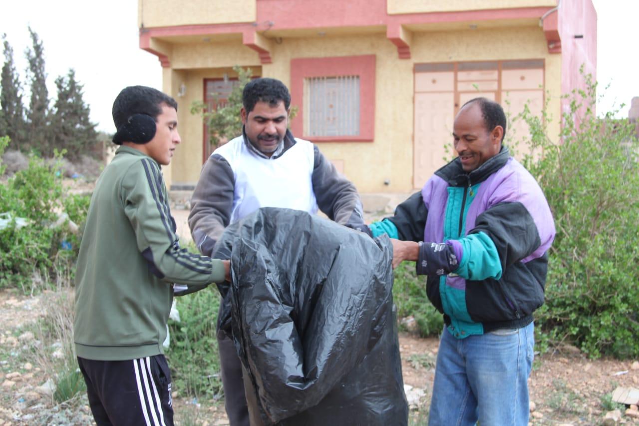 جمعية لغريبة للتنمية والأعمال الإجتماعية تنظم حملة نظافة واسعة منذ شهر من تأسيسها