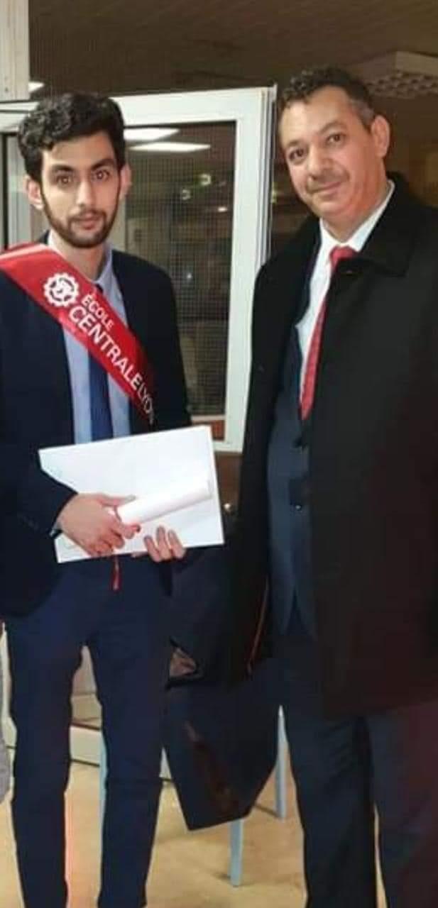 بالصور: تخرج  ابن الناظور وسيم صبار من المدرسة العليا المركزية للمهندسين بليون الفرنسية