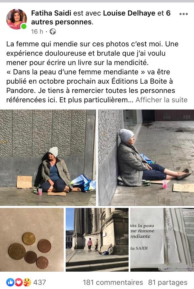 بلجيكا..برلمانية أوربية من أصل مغربي تتحول إلى متسولة بشوارع بروكسل
