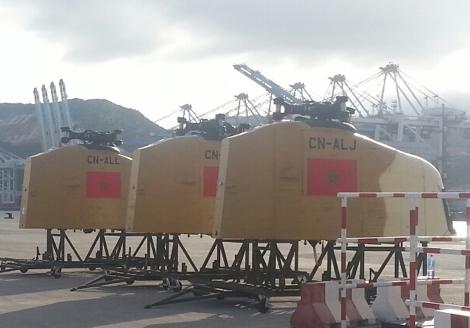 """مروحيات """"شينوك"""" العسكرية الأمريكية تصل إلى ميناء طنجة"""