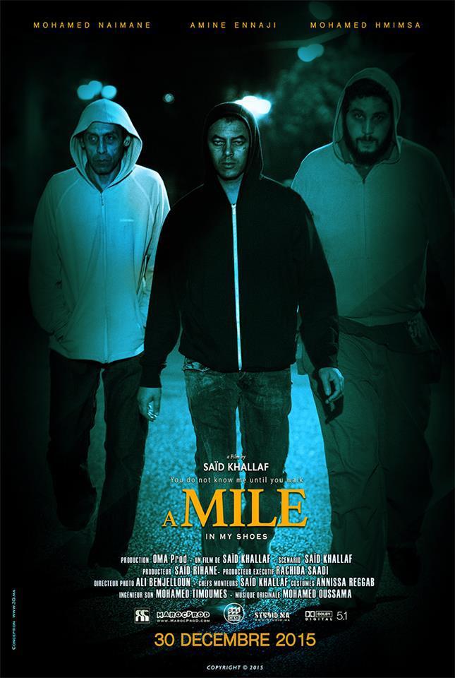 """عرض الفيلم الطويل""""مسافة ميل"""" الذي حاز على الجائزة الكبرى بطنجة لأول مرة بوجدة"""