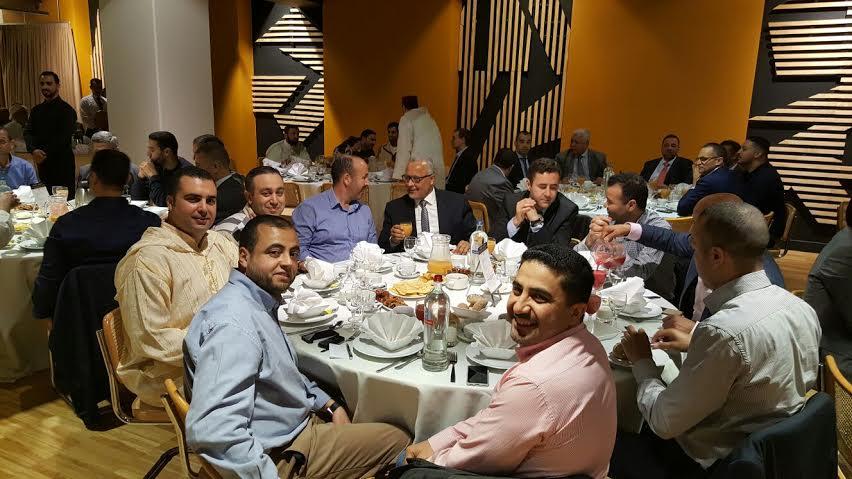 المجلس الأوروبي للعلماء المغاربة ينظم حفل إفطار بمناسبة شهر رمضان  المعظم بالعاصمة البلجيكية بروكسيل.