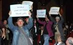 صحفيون يحتجون ضمن الحفل الرسمي لوزارة الإعلام
