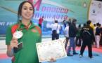 +صور: ابنة الاستاذ موسى لعرج الناظورية ندى تفوز ببطولة افريقيا للتايكواندو
