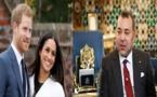 جلالة الملك يستقبل الأمير هاري وزوجته