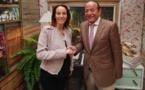 عبد القادر سلامة يتباحث مع رئيسة الاتحاد البرلماني الدولي في المكسيك