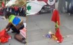 نشطاء من الناظور و أروبا يستنكرون إحراق العلم الوطني بالعاصمة الفرنسية باريس