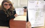 ليلى أحكيم تضع ملف ترشحها لخلافة الرئيس المعزول سليمان حوليش