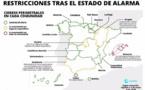 """Melilla vive hoy el """"toque de queda"""" más corto desde que comenzó el estado de alarma hace seis meses: durará dos horas, de las 22 a 24 horas"""