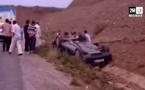 إنقلاب سيارة بين الناظور والحسيمة