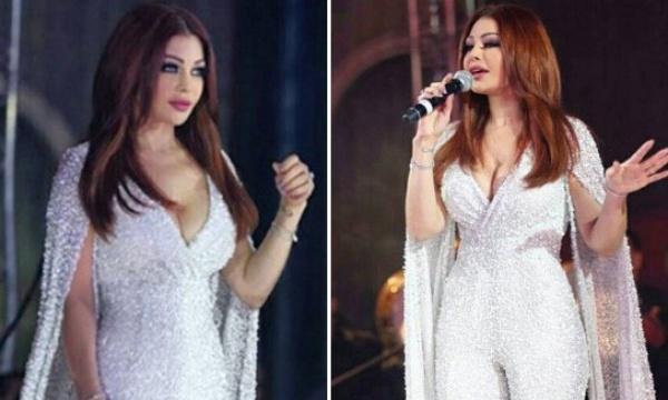 فيديو هيفاء وهبي تتعرض لموقف محرج بسبب فستانها